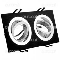 Kanlux SEIDY CT-DTL250-B Portafaretto Orientabile da Incasso per 2 Lampadine GU10 e GU5.3 - mod.18284