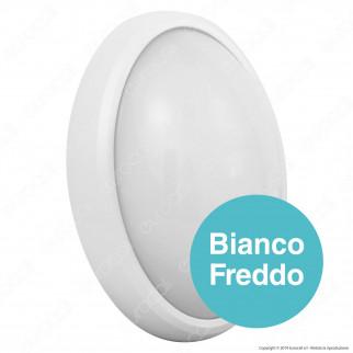 V-Tac VT-8014 Plafoniera LED 8W Forma Ovale Colore Bianco - SKU 1264 / 1263 / 1265