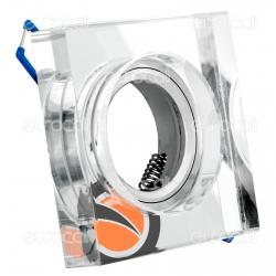 Kanlux MORTA B CT-DSL50-SR Portafaretto Quadrato da Incasso per Lampadine GU10 e GU5.3 - mod.22112