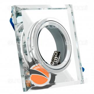 Kanlux MORTA CT-DSL50-SR Portafaretto Quadrato da Incasso per Lampadine GU10 e GU5.3