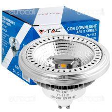 V-Tac VT-1112 Lampadina LED AR111 GU10 12W Faretto da Incasso