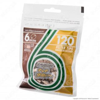 Pop Filters Eco-Tips Slim 6mm Biodegradabili - Box 30 Bustine da 120 Filtri
