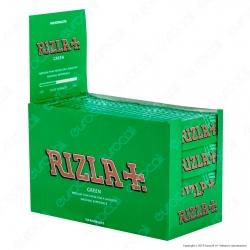 Cartine Rizla Green Corte Verdi - Scatola da 100 Libretti