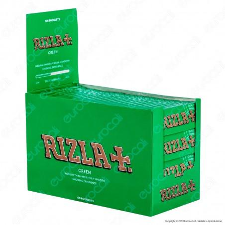 A00006002 - Cartine Rizla Green Corte Verdi - Scatola da 100 Libretti