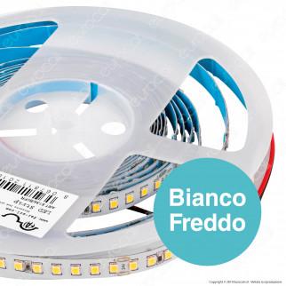 FAI Striscia LED 2835 Monocolore 140 LED/metro 24V CRI≥90 - Bobina da 5 metri - mod. 5134/BI/CA / 5134/BI/CO / 5134/BI/FR