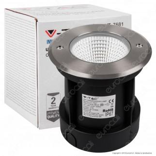 V-Tac VT-7681 Faretto LED COB 12W Segnapasso da Interramento IP67 - SKU 8622