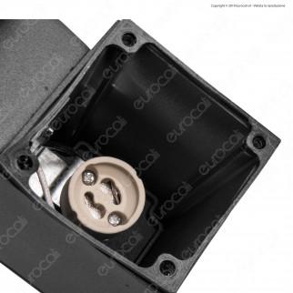 V-Tac VT-842 Portalampada Doppio Wall Lamp da Muro IP44 per 2 Lampadine GU10 - SKU 8627