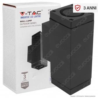 V-Tac VT-842 Portalampada Doppio Applique Wall Lamp da Muro IP44 per 2 Lampadine GU10 - SKU 8627
