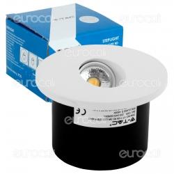 V-Tac VT-1109 RD Faretto Segnapasso LED da Incasso Rotondo 3W COB - SKU 1207 / 1208