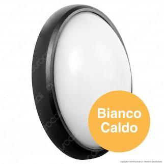 V-Tac VT-8014 Plafoniera LED 8W Forma Ovale Colore Nero - SKU 1267 / 1266 / 1268