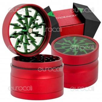 Grinder Tritatabacco Thorinder Rosso 4 Parti in Metallo con Confezione Regalo