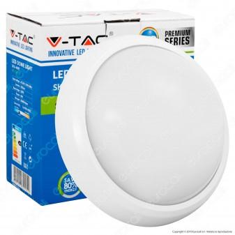 V-Tac VT-8014 Plafoniera LED 8W Forma Circolare Colore Bianco - SKU 4999 / 1259 / 4997