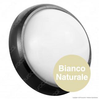 V-Tac VT-8014 Plafoniera LED 8W Forma Circolare Colore Nero - SKU 1261 / 1260 / 1262