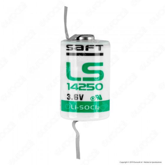 Saft Batteria al Litio LS 14250 1/2 Stilo AA con Lamelle - Batteria Singola