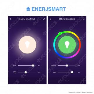 Ener-J Lampadina LED Smart Wi-Fi E14 5W Candela RGB+W 4in1 Dimmerabile - mod. SHA5287