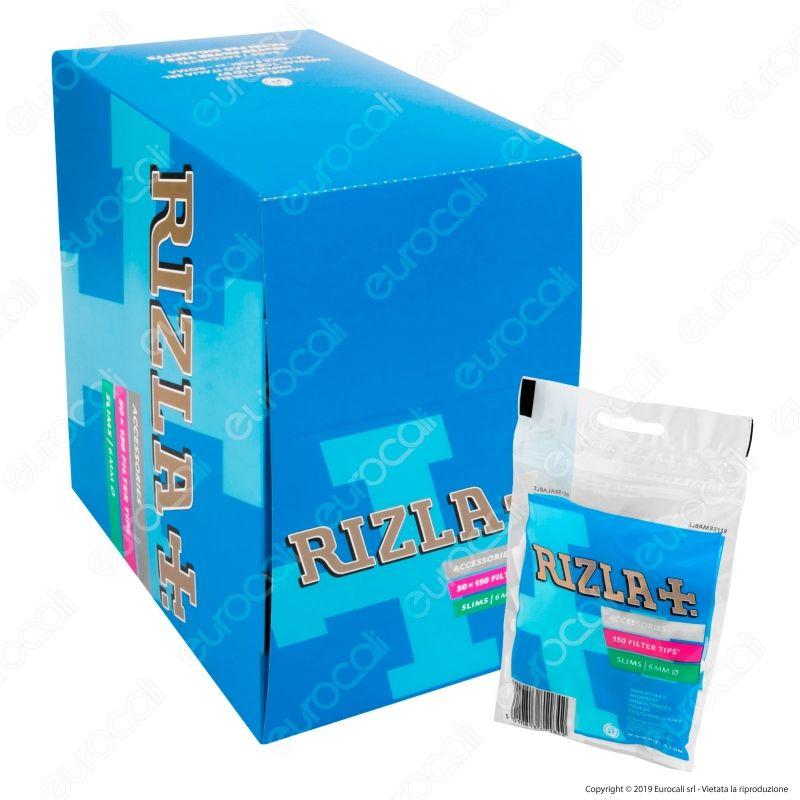 3000 Filtri Filtrini RIZLA Slim 6 mm 6mm 20 scatole da 150 Accendino Omaggio