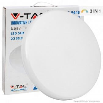 V-Tac VT-8418 Plafoniera LED 18W Changing Color 3in1 Forma Circolare Copertura Opaca - SKU 7605