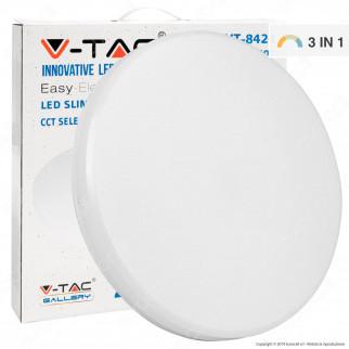 V-Tac VT-8424 Plafoniera LED 24W Changing Color 3in1 Forma Circolare Copertura Opaca - SKU 7607