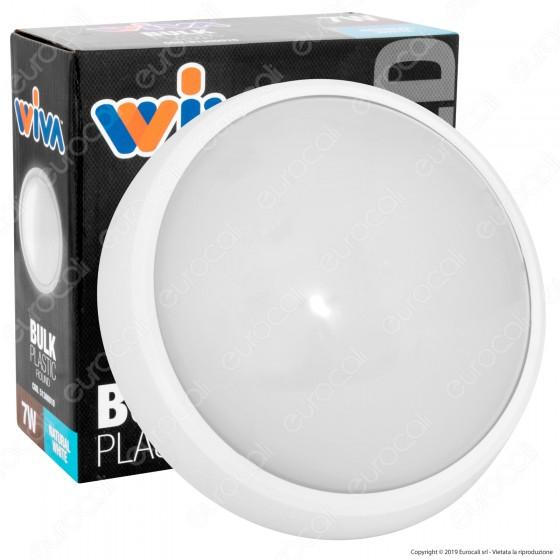 Wiva Plafoniera LED 7W mod. BULK Bianca Forma Circolare IP65 - mod. 51300010