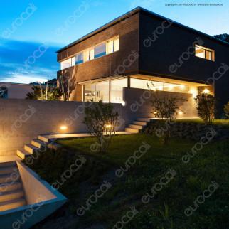 Velamp Portalampada Segnapasso per Lampadine LED E27 da Incasso Rettangolare Colore Nero - mod. IS720