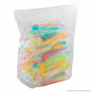 100 Beccucci in Plastica Colorati di Ricambio per Narghilè