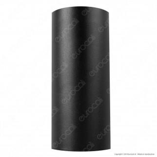 Sure Energy Ener-J Portalampada Doppio Applique Wall Light da Muro IP44 Nero per 2 Lampadine GU10 - mod. T704