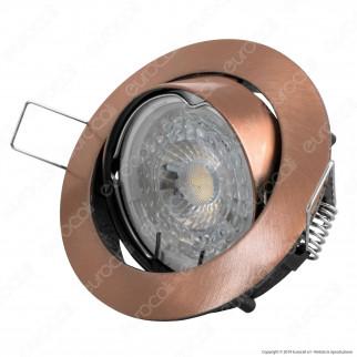 V-Tac VT-779 Portafaretto Orientabile Rotondo da Incasso per Lampadine GU10 e GU5.3 Colore Bronzo - SKU 8580