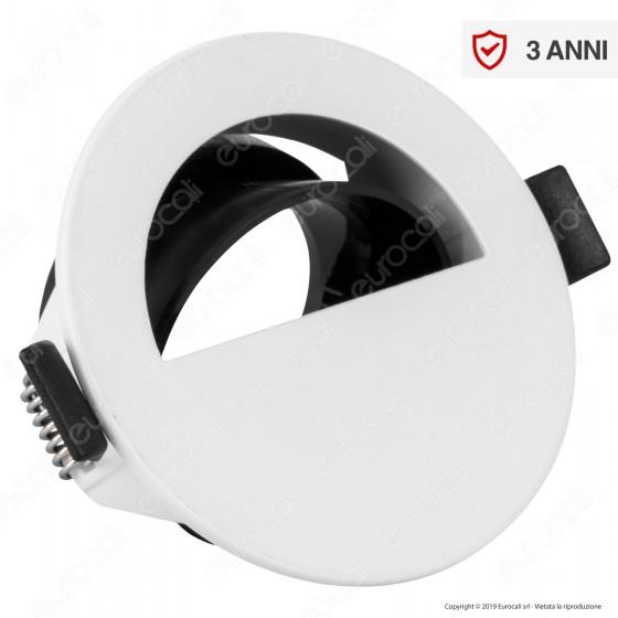V-Tac VT-884 Portafaretto Orientabile Rotondo da Incasso per Lampadine GU10 e GU5.3 Colore Bianco - SKU 8599