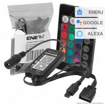 Ener-J Wi-Fi Controller Dimmer per Strisce LED RGB con Telecomando - mod. SHA5208