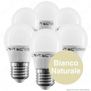 30 Lampadine LED V-Tac VT-2256 Super Saver Pack E27 5,5W MiniGlobo G45 - Pack Risparmio