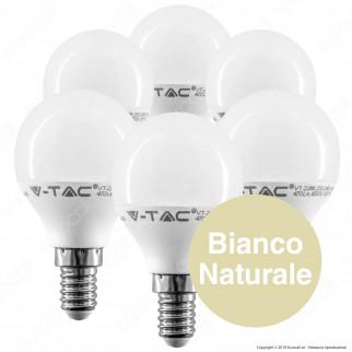 30 Lampadine LED V-Tac VT-2266 Super Saver Pack E14 5,5W MiniGlobo P45 - Pack Risparmio