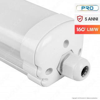 V-Tac PRO VT-1524 Tubo LED Plafoniera X-Series 24W Lampadina 120cm Impermeabile - SKU 6485 / 6486