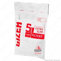 Gizeh Extra Slim 5mm - Bustina da 150 Filtri