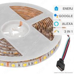 Ener-J Striscia LED Smart Wi-Fi 14,4W 60 LED/metro Changing Color 3in1 Dimmerabile - mod. SHA5213