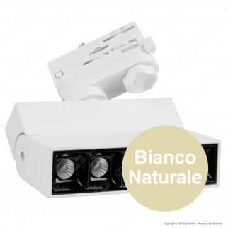 V-Tac PRO VT-416 Track Light LED SMD 12W Faretto 30° CRI≥90 Chip Samsung Bianco - SKU 20003 / 20004