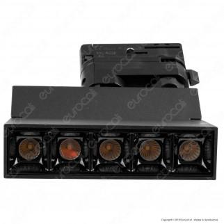 V-Tac PRO VT-416 Track Light LED SMD 12W Faretto 30° CRI≥90 Chip Samsung Nero - SKU 20000 / 20001
