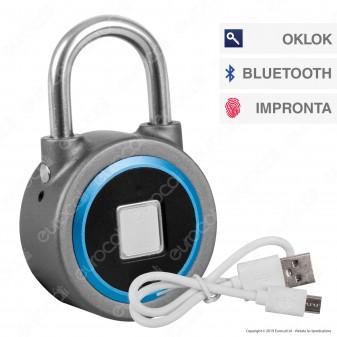 Ener-J Bluetooth Fingerprint Padlock Lucchetto Smart con Bluetooth e Impronta Digitale - mod. SHA5260