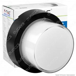 V-Tac VT-828 Lampada LED da Muro 12W Wall Light Colore Nero Forma Rotonda - SKU 8541 / 8542