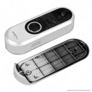 Ener-J Videocitofono Slim Wi-Fi IP54 con Funzioni di Sorveglianza HD e Sensore di Movimento e Infrarossi - mod. SHA5289
