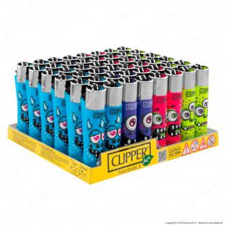 Clipper Large Fantasia Monster Faces - Box da 48 Accendini