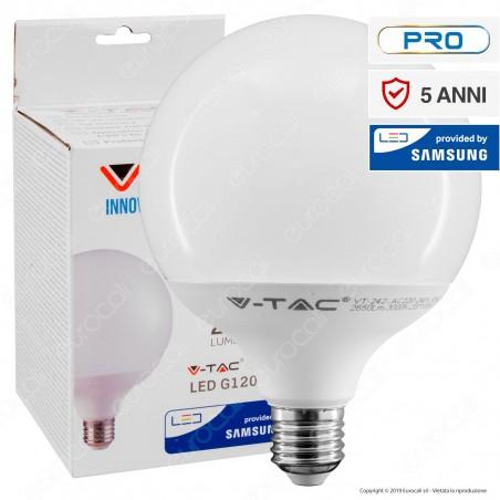 V-Tac PRO VT-242 Lampadina LED E27 22W Globo G120 Chip Samsung - SKU 20021 / 20022 / 20023