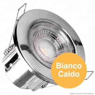 V-Tac PRO VT-885 Faretto LED 5W da Incasso Rotondo Colore Cromo Dimmerabile IP65 - SKU 8175 / 8176 / 8180