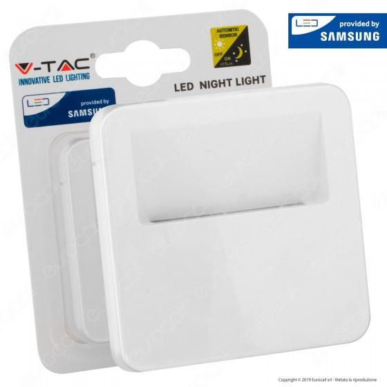 V-Tac VT-86 Punto Luce LED Forma Quadrata con Sensore Crepuscolare con Chip Samsung - SKU 20019 / 20020