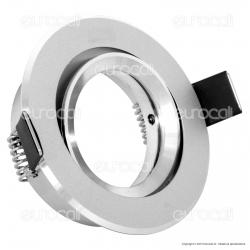 Kanlux RADAN CT-DTO50 Portafaretto Orientabile Rotondo da Incasso per Lampadine GU10 e GU5.3 - mod.7360