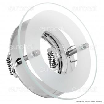 Kanlux DINO CTX-DS02G/A-C Portafaretto Rotondo da Incasso per Lampadine GU10 e GU5.3