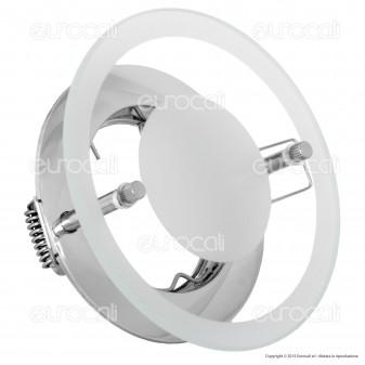 Kanlux DINO CTX-DS02G/B-C Portafaretto Rotondo da Incasso per Lampadine GU10 e GU5.3