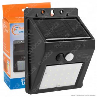 Sure Energy Ener-J Lampada LED per Esterno IP44 con Pannello Solare e Sensore di Movimento - mod. T701