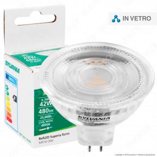 Sylvania RefLED Superia Retro Lampadina LED GU5.3 (MR16) 6,3W Faretto Spotlight 36° Dimmerabile - mod. 29420 / 29421