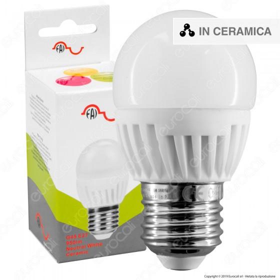 FAI Lampadina LED E27 9W MiniGlobo G45 in Ceramica - mod. 5163/CA / 5163/CO / 5163/FR