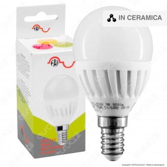 FAI Lampadina LED E14 9W MiniGlobo P45 in Ceramica - mod. 5180/CA / 5180/CO / 5180/FR